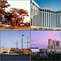 Biloxi, Bay St. Louis, Gulfport, Mississippi, Casinos Hotels Motels Resorts