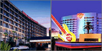 East of Strip, Las Vegas, Nevada, Casinos Hotels Motels Resorts