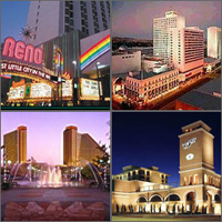 Reno, Nevada, Hotels Motels Casinos